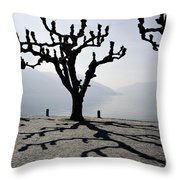 Trees With Shadows Throw Pillow