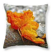 Tremella Mesenterica - Orange Brain Fungus Throw Pillow