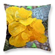 Tremella Mesenterica - Yellow Brain Fungus Throw Pillow