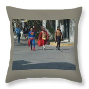 Tres Amigos Throw Pillow
