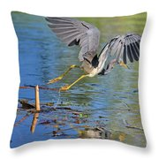 Tri On The Hunt Throw Pillow