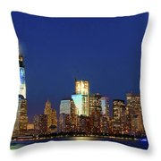 Tribute Of Lights Nyc 2012 Throw Pillow