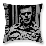 Tribute To Andy Throw Pillow by George Pedro