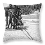 Tribute To The Mining Family - Wallace Idaho Throw Pillow