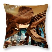 Triceratops At The Smithsonian Throw Pillow