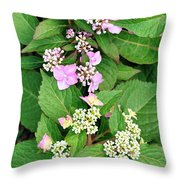 Trickles Of Color Throw Pillow