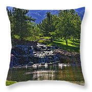Trilogy Falls Throw Pillow
