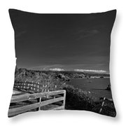 Trinidad Memorial Lighthouse In Black And White Throw Pillow
