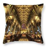Trinity Church Nyc Throw Pillow