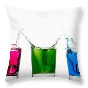 Triptych - Rgb Throw Pillow by Gert Lavsen