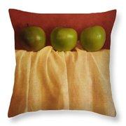Trois Pommes Throw Pillow