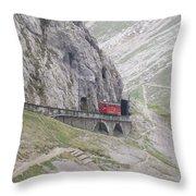 Trolley Ride Through A Tunnel Throw Pillow