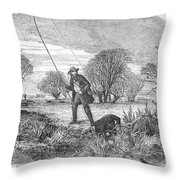 Trolling For Jack, 1850 Throw Pillow