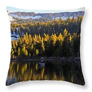 Trolling On Twin Lakes Throw Pillow