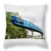 Tron A Rail Throw Pillow