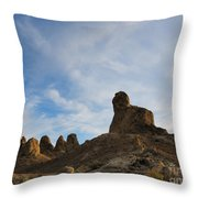 Trona Pinnacles 2 Throw Pillow