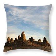 Trona Pinnacles 3 Throw Pillow