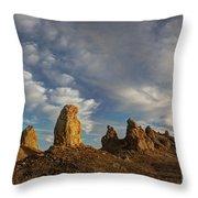 Trona Pinnacles 4 Throw Pillow