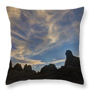 Trona Pinnacles 6 Throw Pillow