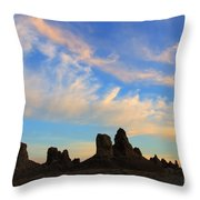 Trona Pinnacles At Sunset Throw Pillow