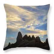 Trona Pinnacles Windswept Throw Pillow
