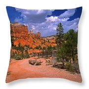 Tropic Canyon In Bryce Canyon Park Throw Pillow