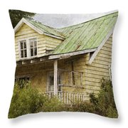 Tropical Cottage Throw Pillow