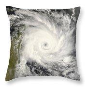 Tropical Cyclone Ivan Over Madagascar Throw Pillow