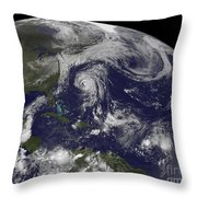 Tropical Cyclones Katia, Lee, Maria Throw Pillow