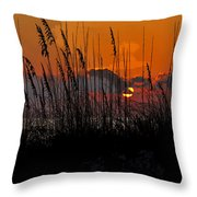 Tropical Evening Throw Pillow