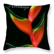 Tropical Holiday Card Throw Pillow
