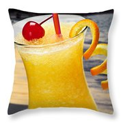 Tropical Orange Drink Throw Pillow