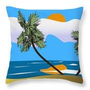 Tropical Outlook Throw Pillow