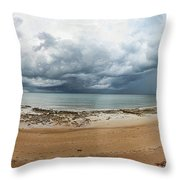Tropical Seasonal Monsoon Rain Throw Pillow