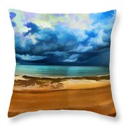 Tropical Seasonal Monsoon Rain V2 Throw Pillow