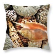 Tropical Shells Throw Pillow