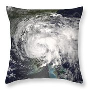 Tropical Storm Fay Throw Pillow