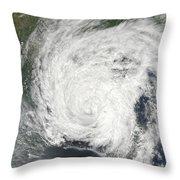 Tropical Storm Muifa Over China Throw Pillow
