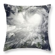 Tropical Storm Nock-ten Throw Pillow