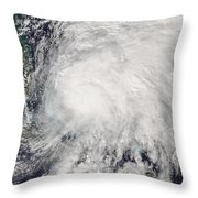 Tropical Storm Noel Over The Bahamas Throw Pillow