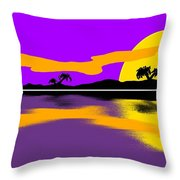Tropical Sunrise Throw Pillow