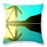 Tropical Sunrise Number 5 Throw Pillow