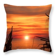 Tropical Sunset V6  Throw Pillow