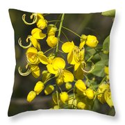 Tropical Yellow Flowers Throw Pillow