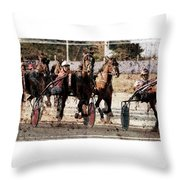 Trotting 3 Throw Pillow