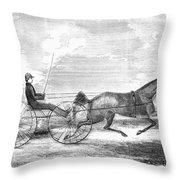 Trotting Horse, 1853 Throw Pillow