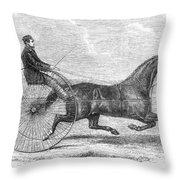 Trotting Horse, 1861 Throw Pillow