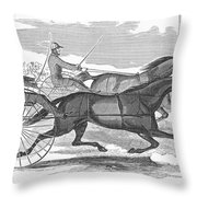 Trotting Horses, 1854 Throw Pillow
