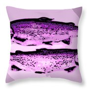 Trout For Lunch Throw Pillow