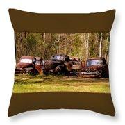 Truck Graveyard Throw Pillow